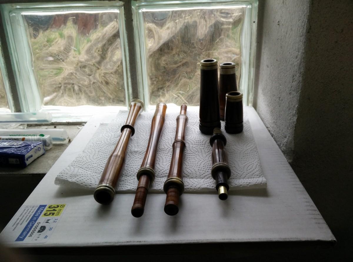 Die Teile nach dem Polieren noch in meiner Werkstatt.
